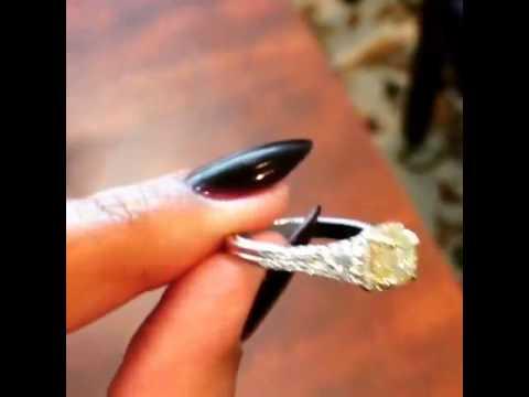 video:Fancy Yellow Diamond Engagement Ring
