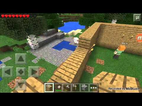 Lp Minecraft PE überleben Wir Bauen Ein Haus YouTube - Minecraft haus bauen in uberleben