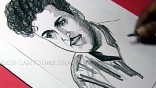How to Draw Tamil Actor GEMINI GANESAN Drawing