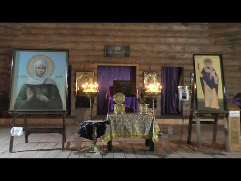 Мощи свт. Спиридона и Блаженной Матроны в Белобережском монастыре