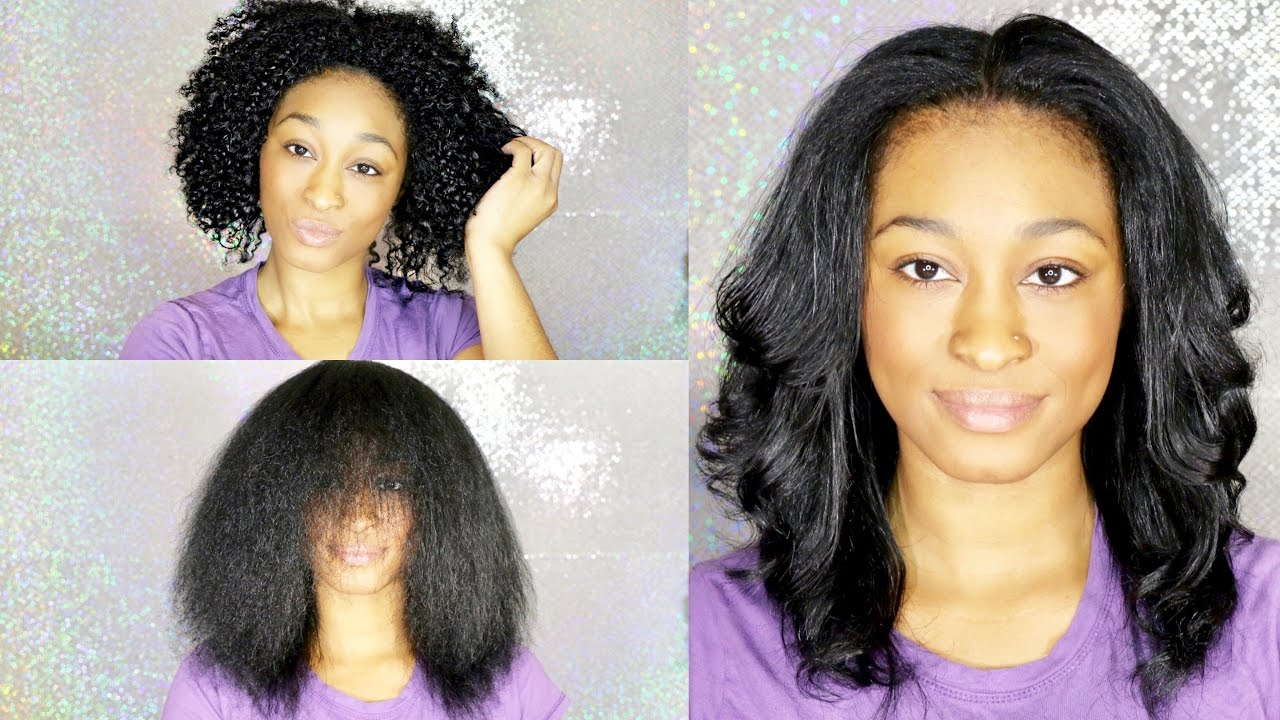 How To Straighten Natural Hair: Curly To Straight With No Frizz! #iAmPrincess #Octoly - YouTube