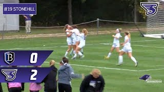 Stonehill Women's Soccer Highlights and Post-Game Interviews vs Bentley