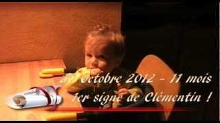"Clémentin bébé Kestumdis fait son 1er signe ""manger"".avi"