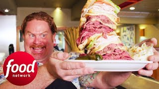 Casey Conquers 3 Lb Manhattan Monster Sandwich Challenge | Man v Food