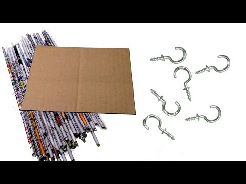 Newspaper reuse | art and craft | Wall mount Organizer With Key Holder | Best out of waste