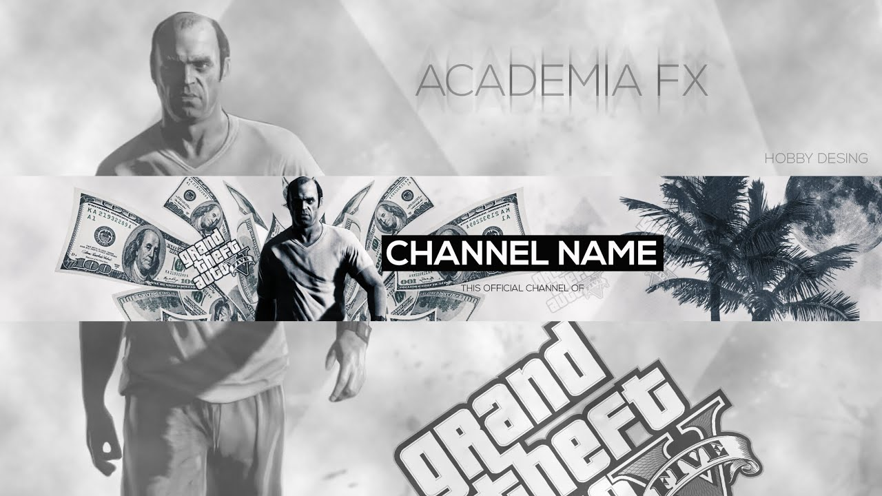 trevor gta v youtube banner template edit vel psd youtube. Black Bedroom Furniture Sets. Home Design Ideas
