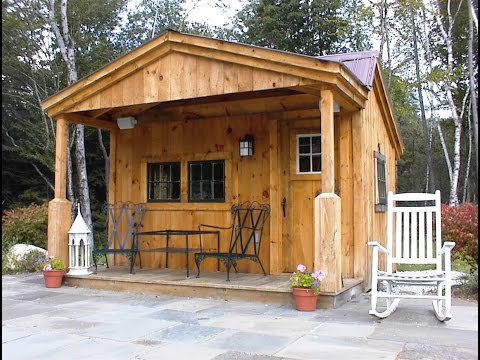 Potting Fort Shed 12x12 Vermont Post & Beam Rough Sawn Lumber