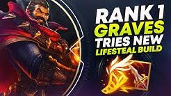 RANK 1 GRAVES TRIES NEW LIFESTEAL BUILD (SANGUINE BLADE)   League of Legends
