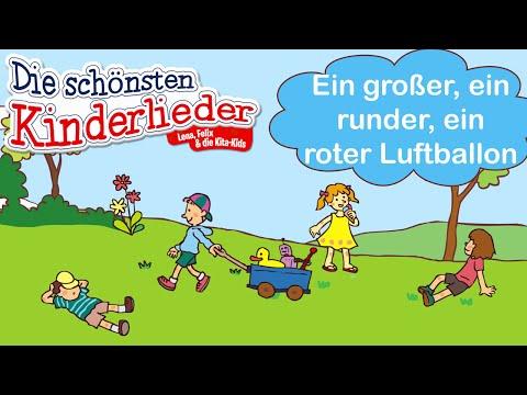 Ein großer, ein runder, ein roter Luftballon | Kinderlied zum Mitsingen mit Text