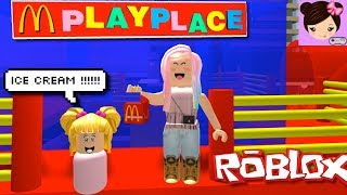 Fun day in McDonaldsville with Baby Goldie - Roblox Roleplay Mc Donalds - Titi Games
