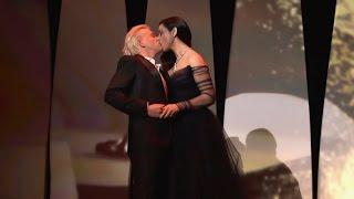 Моника Белуччи слилась в страстном поцелуе на глазах у публики