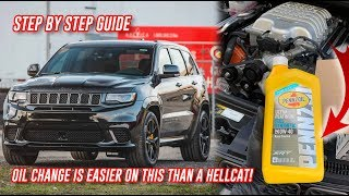 Zapętlaj How To Do A Oil Change On A Jeep Trackhawk In Under 5 Minutes - DIY | 4BangersProduction
