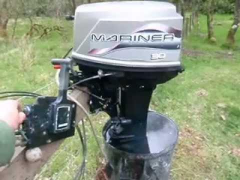 Mariner 30HP Electric Start 2-Stroke Outboard Engine with Remote Controls