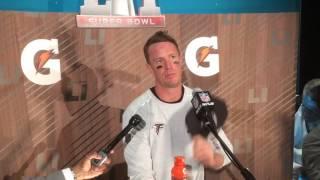 Matt Ryan reacts to the Falcons' loss to the Patriots in Super Bowl LI