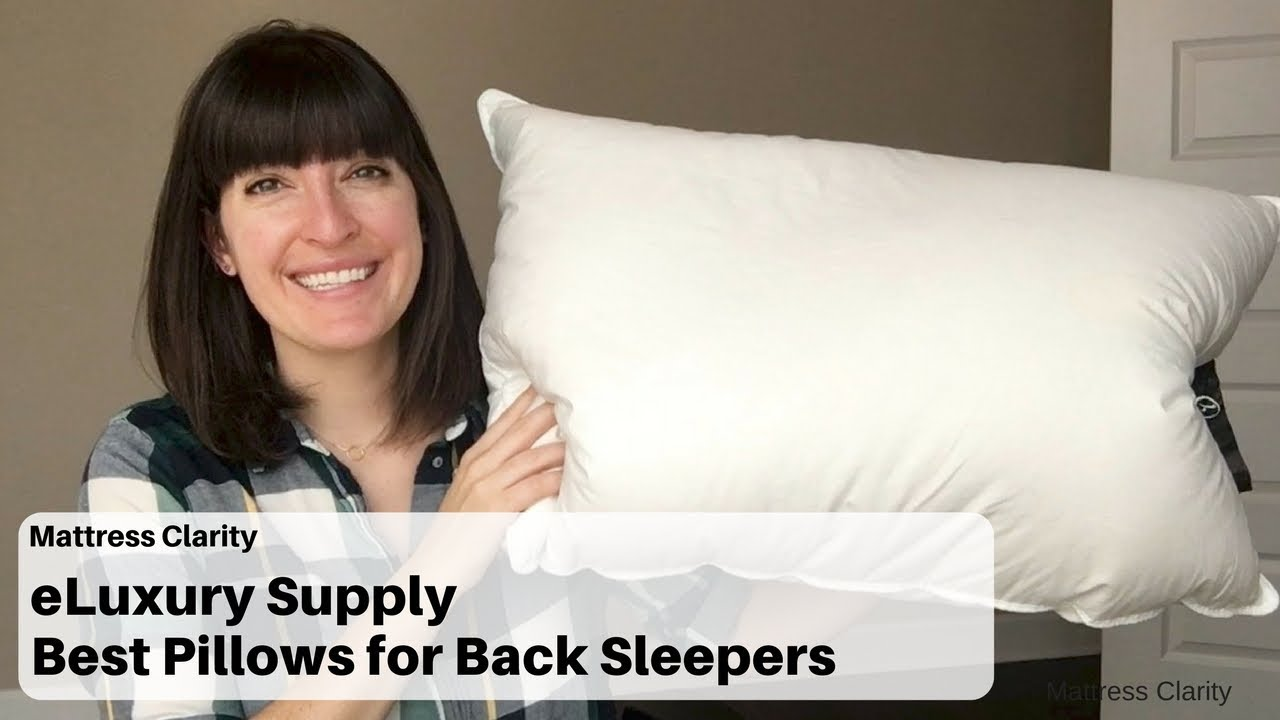 half off 88bec f97ce eLuxury Supply Hotel White Goose Down - Best Pillows for Back Sleepers