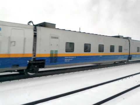 Поезд Talgo (Астана - Актобе) на станции Хромтау
