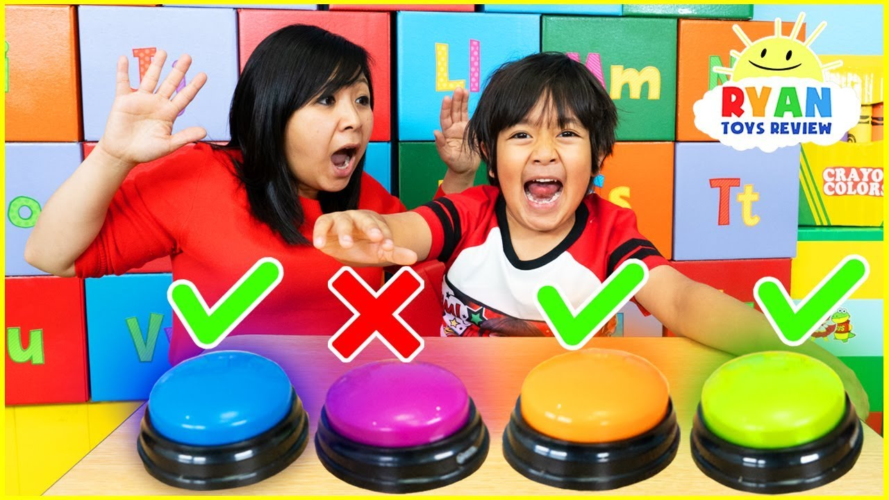 Dont Push The Wrong Button Challenge with Ryan ToysReview