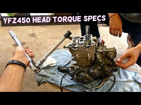 YAMAHA YFZ450 CYLINDER HEAD TORQUE SPECS