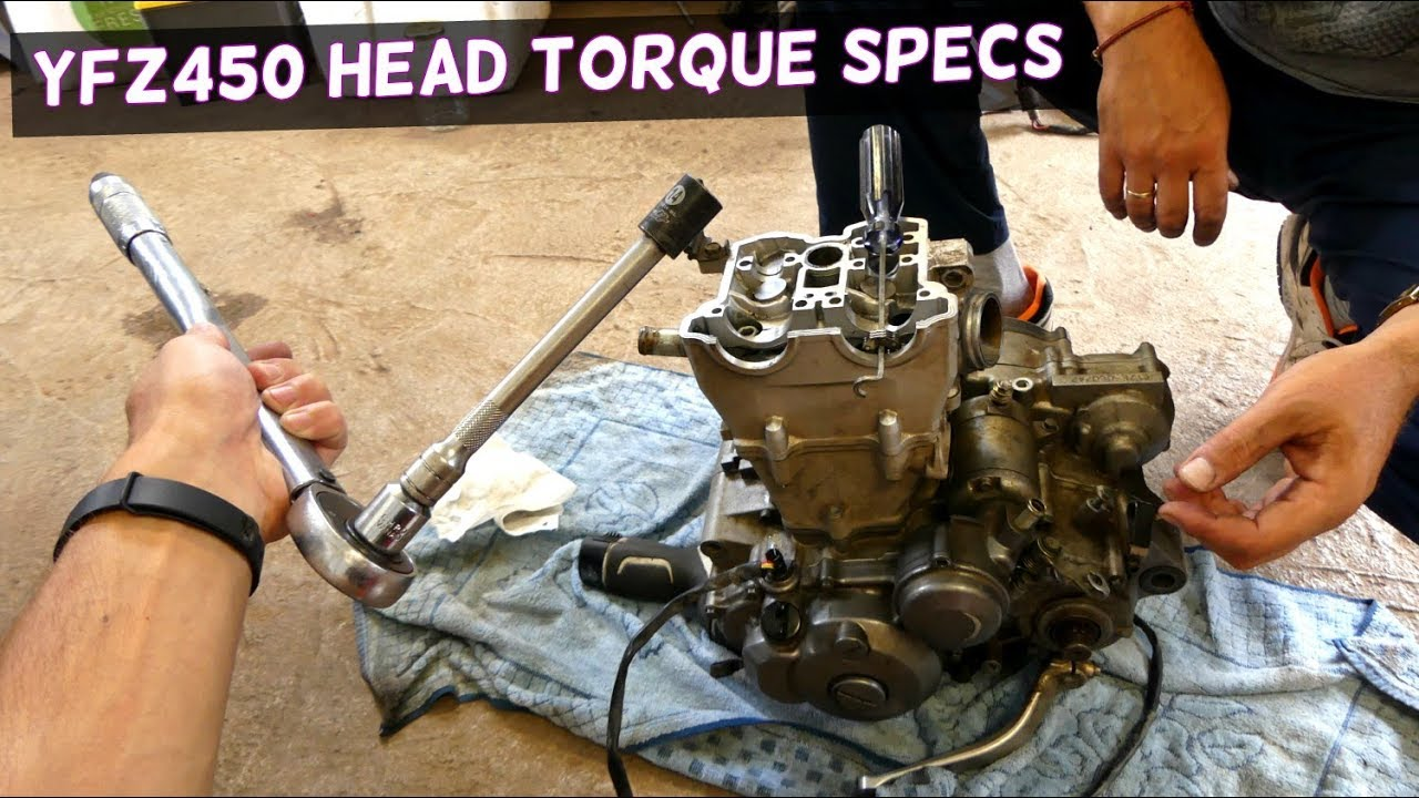 yamaha yfz450 cylinder head torque specs [ 1280 x 720 Pixel ]