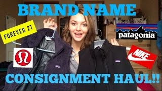 HUGE Brand Name Consignment & Thrift Haul!
