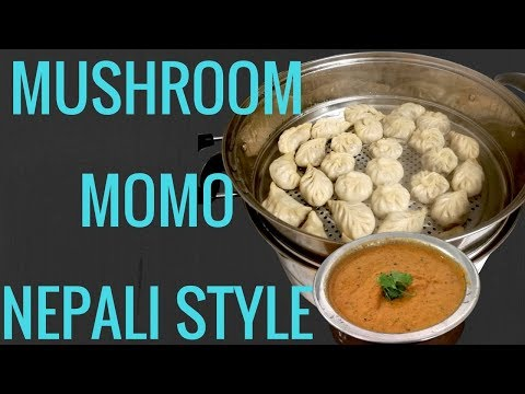 Mushroom momo recipe | vegan mushroom dumplings | veg momo | momo nepali food nepali style