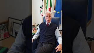 Il saluti del Presidente del CONI ai concorrenti del 1° Cortina International Trial