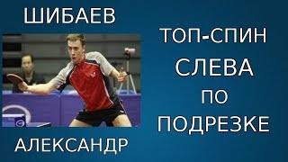 Александр Шибаев ПОКАЗЫВАЕТ как НУЖНО ВЫПОЛНЯТЬ ТОП-СПИН СЛЕВА по ПОДРЕЗКЕ