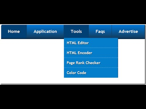 How to create menu and sub-menu in blogger - YouTube
