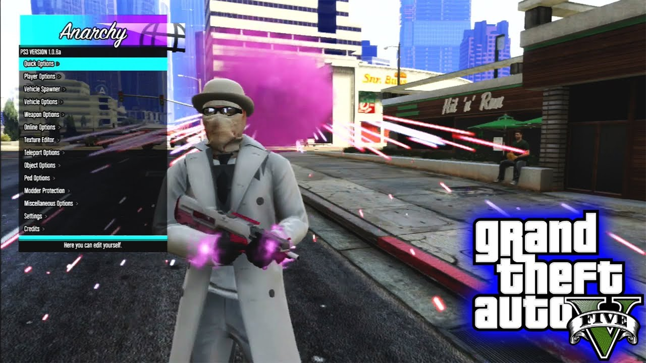 GTA V PS3 SPRX MOD MENU [ ANARCHY ] + DOWNLOAD { UPDATED }