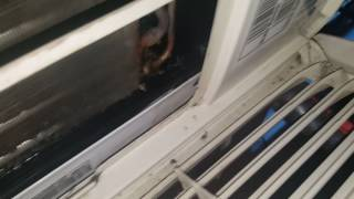 My ac unit spitting out water and making a horrible noise :(