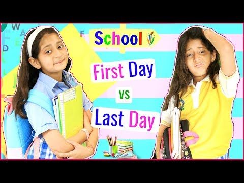 SCHOOL Life - FIRST Day vs LAST Day .. | #Fun #Sketch #RolePlay #Anaysa #MyMissAnand thumbnail