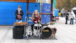 Frau Drummer in Stuttgart