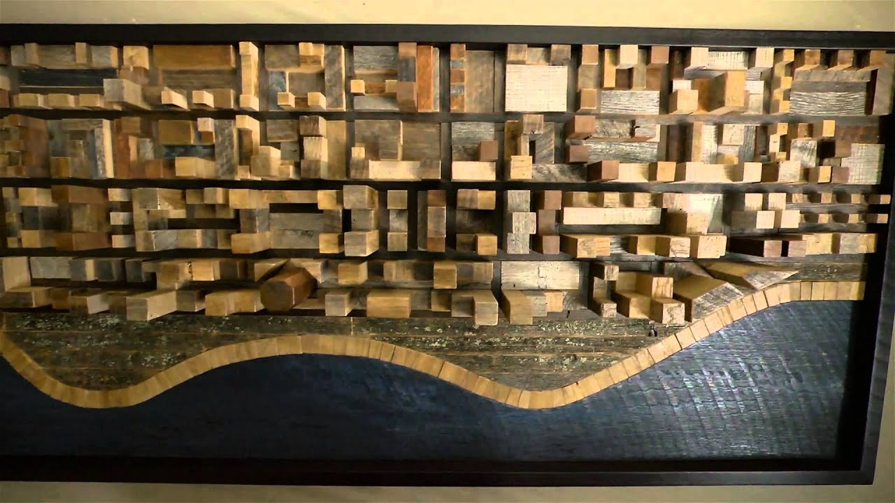 Reclaimed Wood Art Craig Forget Reclaimed Wood Artist Youtube