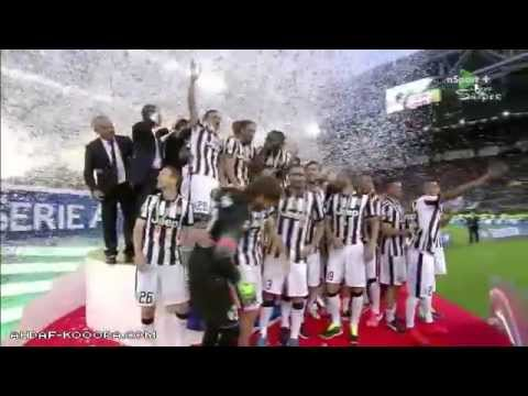 Juventus serie a 2014 -15 winners - celebrations