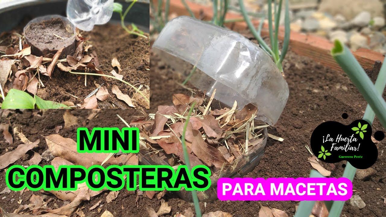 MINI COMPOSTEROS FÁCIL DE HACER PASO A PASO /😲😲/ PARA USARLOS DIRECTAMENTE EN MACETAS Y LA HUERTA🌱🌱