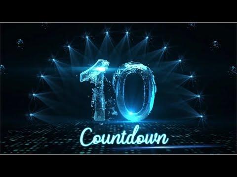 Original technology fluid countdown shock countdown atmosphere annual meeting video