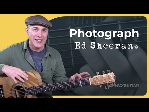 How to play Photograph by Ed Sheeran easy beginner version - Guitar Lesson Tutorial HD (BS-691)