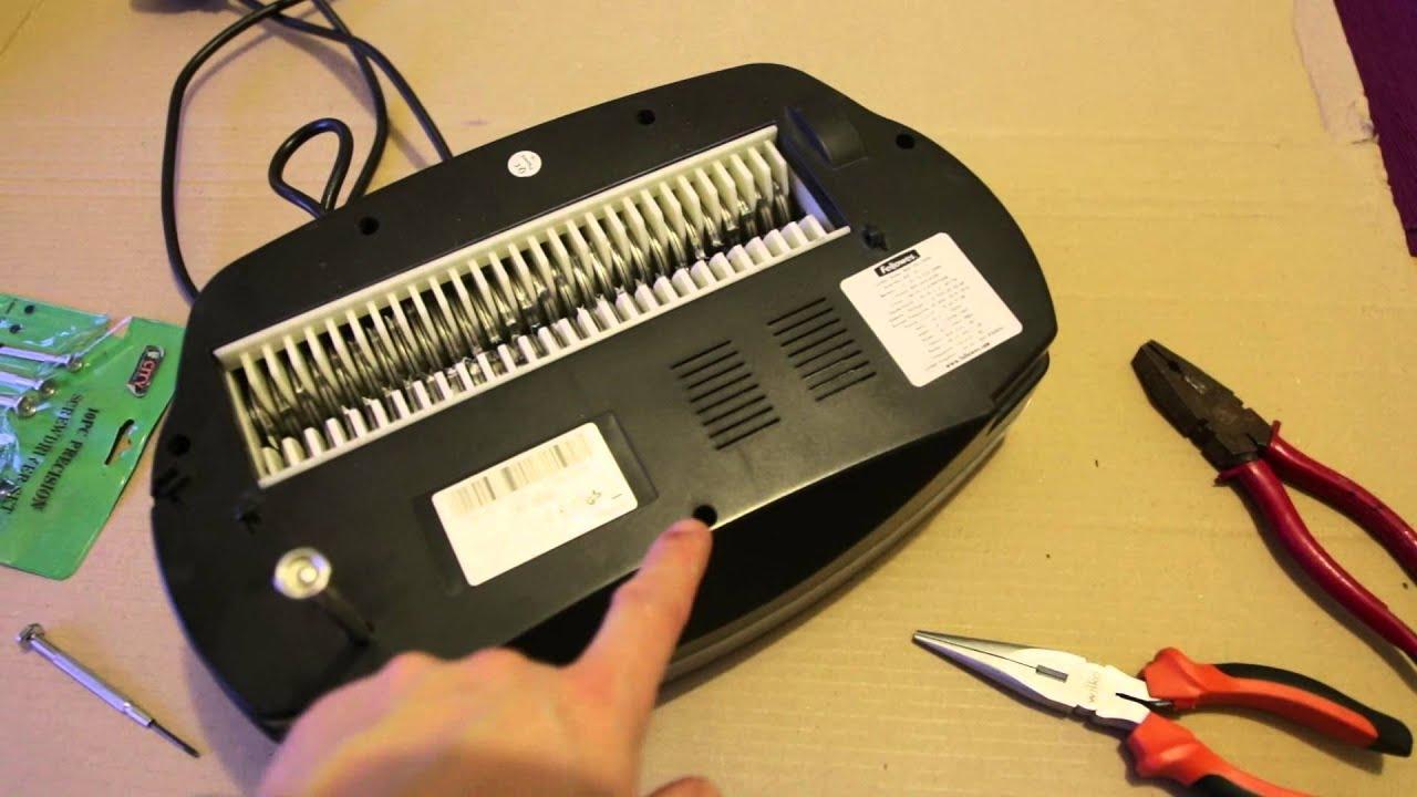How To Open Fellowes Shredder For Repairing Gears When Not Shredding