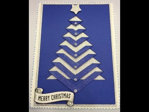 Christmas Tree Card Amp Free Template YouTube