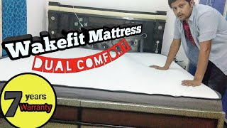 Wakefit Dual Comfort Mattress review - Hard & Soft, King Bed Size