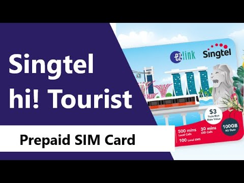 Singapore 7 Day SIM: Singtel Hi! Tourist Prepaid SIM Card - Data, Minutes, Texts & Discounts