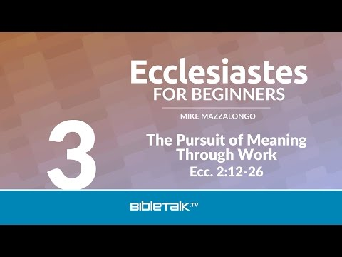 The Pursuit of Meaning Through Work
