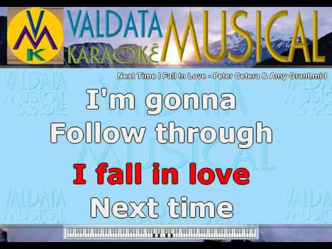 Next Time I Fall In Love   Peter Cetera & Amy Grant   Karaoke