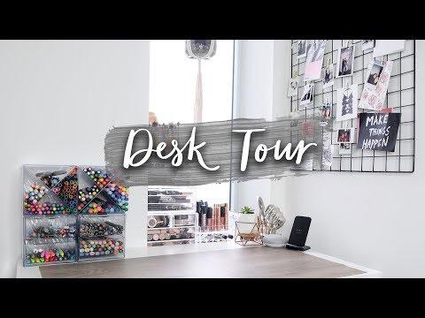 Desk Tour + Organization | (Stationery Storage Tips & Decor Inspiration!)