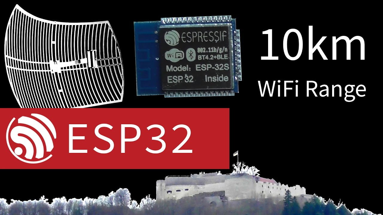 ESP32 WiFi Range Testing - 10km using Directional Antenna