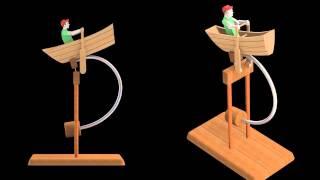 Balancing Fisherman Wooden Toy