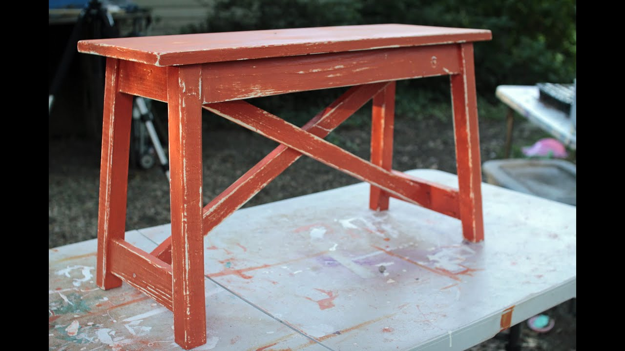 How To Paint Outdoor Wood Furniture Youtube