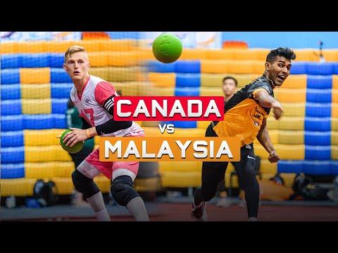 Last Gasp Thriller! Canada Vs Malaysia Highlights | 2019 World Dodgeball Championships | Day 2