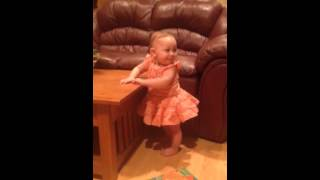 10 month old baby shuffles on command