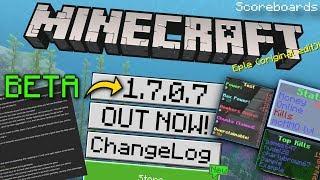 Minecraft - 1.7.0.7 BETA - OUT NOW !! Scoreboards [ Change Log ] MCPE / Xbox / Switch / Bedrock